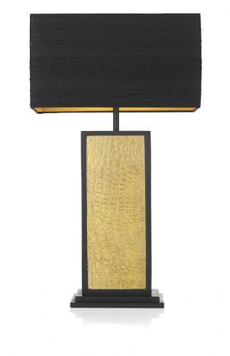 Croc 1-light Made in the Cotswolds Table Lamp Black / Gold CRO4254